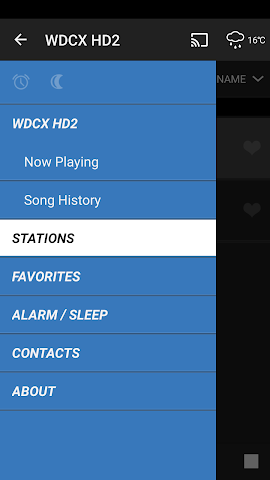 android WDCX Radio Screenshot 2