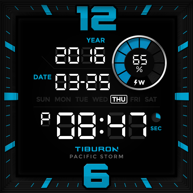 Pacific Storm watchface by Tib Screenshot 6