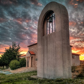 Presveto Srce Isusovo  by Branko Meic-Sidic - Buildings & Architecture Places of Worship ( clouds, srce, hdr, placeofworship, church, sunset, presveto, dramatic, isusovo, dubrava, tišnjanska )