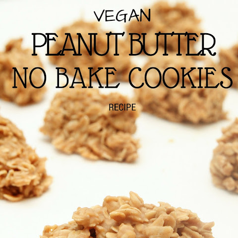 Vegan No Bake Peanut Butter Cookies