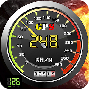 Monitor your current, max and average speed with HUD GPS speedometer tracker APK Icon