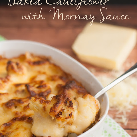 Baked Cauliflower with Mornay Sauce