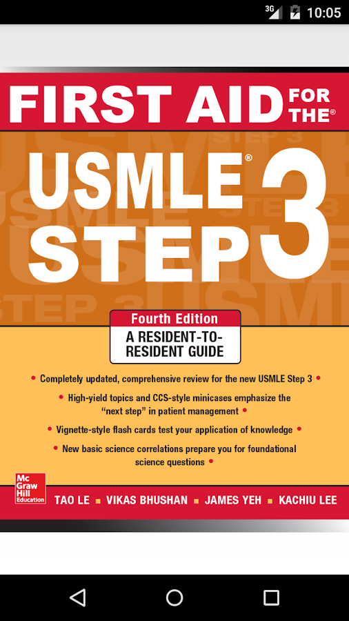 First Aid for USMLE Step 3 4/E Screenshot 0