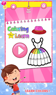 Glitter Dress Coloring and Drawing for Kids for pc