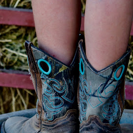 Much loved boots by Lyn Simuns - Babies & Children Hands & Feet ( cowgirl, boots )