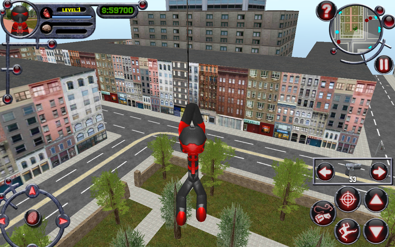 Stickman Rope Hero Screenshot 0