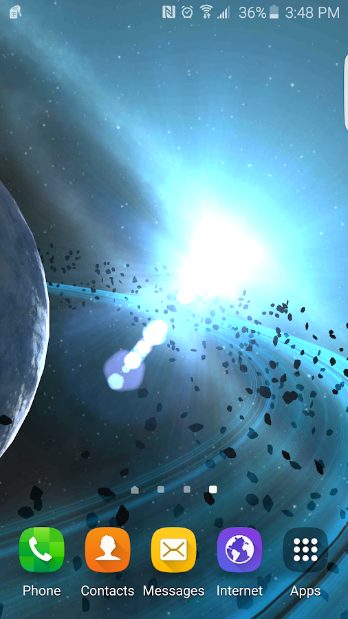 Alien Galaxy 3D Live Wallpaper Screenshot