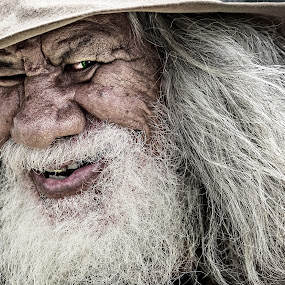 Campbell the Swaggie by Gary Beresford - People Portraits of Men ( story teller, aborigine, poet, wanderer, australia, wizard, nomad, swaggie,  )