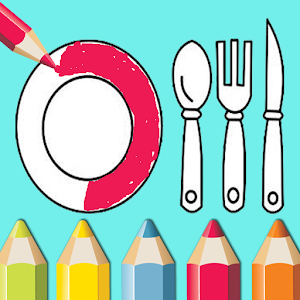 kitchen coloring book for kids For PC / Windows 7/8/10 / Mac – Free Download