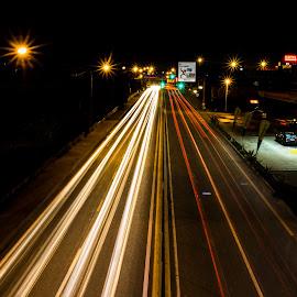 Tracing Light by Adriano Freire - City,  Street & Park  Night ( exposição, luz, rastos, longa, noite )