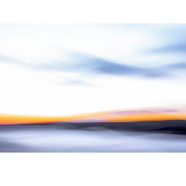 soft edge of dawn by Scott Snyder - Abstract Light Painting ( pan blur; abstract; pastel; landscape; winter )