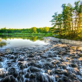Stream Noise by Manu Heiskanen - Uncategorized All Uncategorized ( water, sweden, stream, summer, sun )