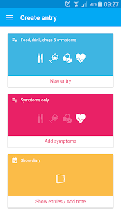 Food and Symptoms Diary - screenshot