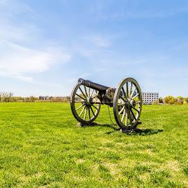 Civil War Canon by Todd Crenshaw - Buildings & Architecture Statues & Monuments ( canon, history, richmond, still life, civil war, virginia, landscape, historic )