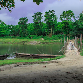 by Suman Bose - Landscapes Travel ( nature, green, land, landscape, river )
