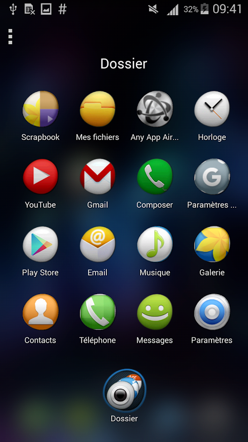 TSF Shell Theme Tfou HD Screenshot 1