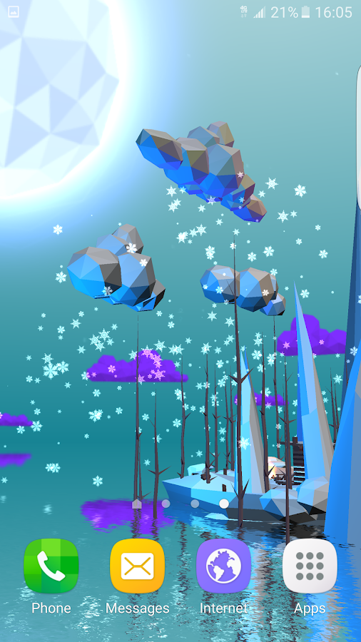 Poly Island 3D Live Wallpaper Screenshot 6
