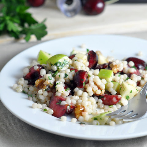 Israeli Couscous with Cherries and Apple