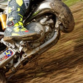 Full Throttle by Michaela Firešová - Sports & Fitness Motorsports ( speed, dust, motobike, boots )