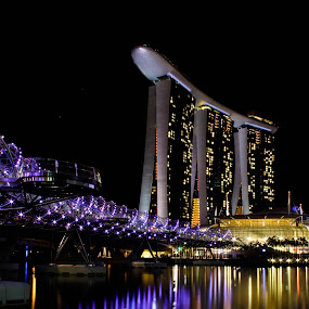 Marina Bay Sands by Kai Jian - Buildings & Architecture Other Exteriors ( helix bridge, marina bay sands, marina bay, singapore, pwcreflections-dq )