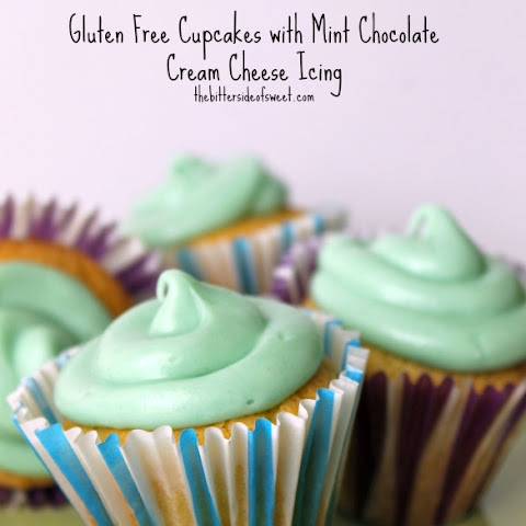 Gluten Free Cupcakes with Mint Chocolate Cream Cheese Icing