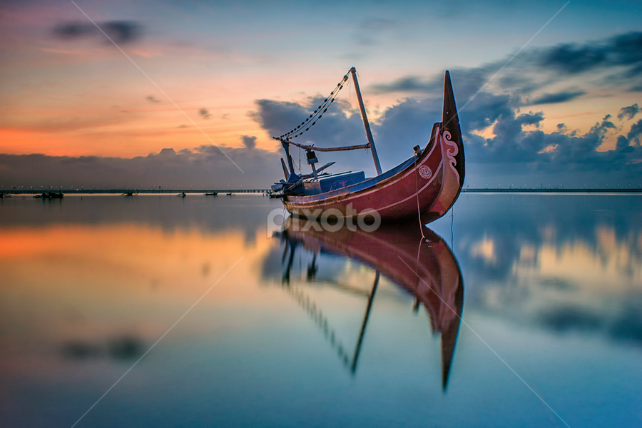 .:: one pair ::. by Setyawan B. Prasodjo - Transportation Boats ( reflection, reflections, people, places, architecture, building )
