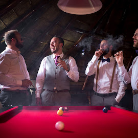 The guys by Lodewyk W Goosen (LWG Photo) - Wedding Getting Ready ( groomsmen, wedding photography, wedding photographers, wedding day, weddings, wedding, cigars, best man, wedding photographer, groom, guys, grooms )