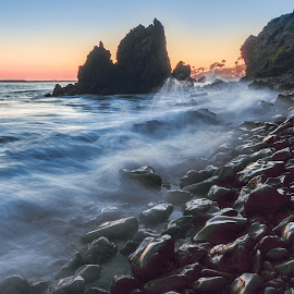 Pebble Beach by Givanni Mikel - Landscapes Beaches