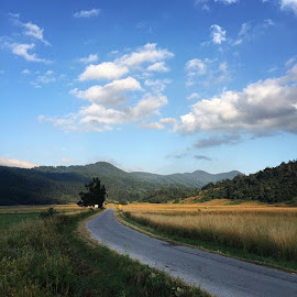 by Ivana Tilosanec - Novices Only Landscapes ( clouds, natureonly, hills, mountains, sky, nature, naturephotography, croatia, weather, summer, road, hrvatska )