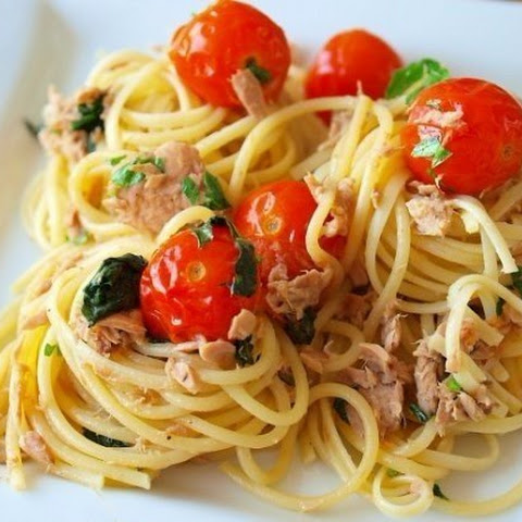 Quick and tasty, Pasta with tuna and spinach