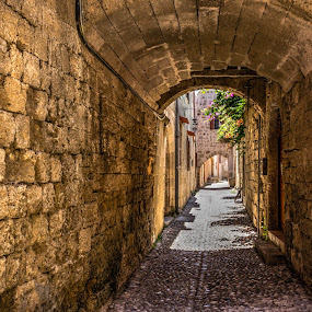 Rhodas by Jose Maria Vidal Sanz - City,  Street & Park  Historic Districts ( old street, greece, rhodas, old city, travel )