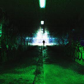 Metropolitan tunnel by Gianni Pezzotta - City,  Street & Park  Street Scenes ( street, man, city,  )