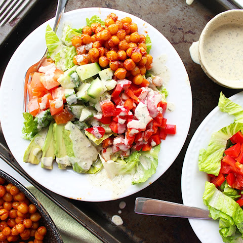 Barbecue Chickpea Ranch Salad [Vegan]