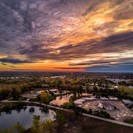 Morning Glory by Bob White - Landscapes Cloud Formations ( love, drone, sky, color, fly, sunrise, photography, sun )