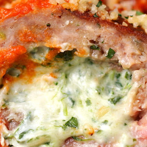 12. Spinach Dip–Stuffed Meatballs