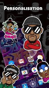 CoCo Launcher - Black Emoji, 3D Theme for pc