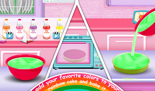 Game Rainbow Doll Cake bakery Game - DIY Cooking Kids APK for Windows Phone