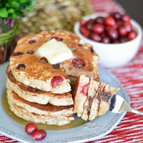 Fresh Cranberry Chocolate Chip Pancakes {& Giveaway!}