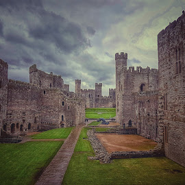 Castle walls by Marie Leather - Buildings & Architecture Public & Historical ( caernarfon, photojournalism, castle, phonography )