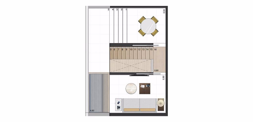Cobertura Superior 70 m²