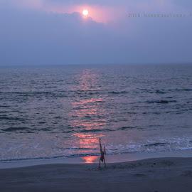 Sunset Yogaat Arambol Beach, Goa. by Narender Boredha - Nudes & Boudoir Artistic Nude