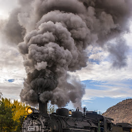 Historic Train by Jerry Cahill - Transportation Trains ( historic train, coal train, antique train, steam train, train, tourist train )