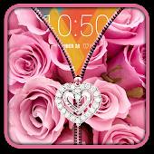 Pink Roses Zipper UnLock APK for Bluestacks