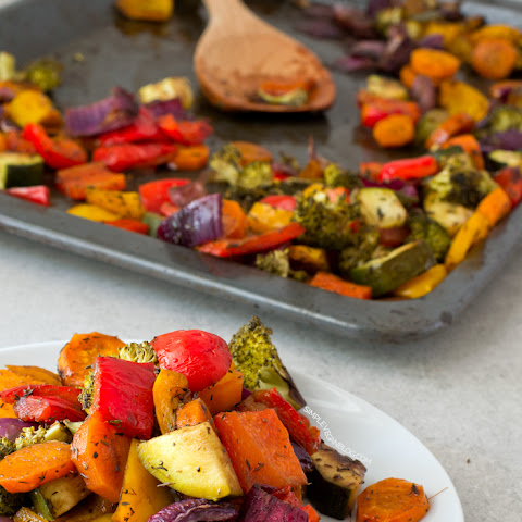 Oil Free Rainbow Roasted Vegetables