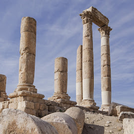 How the Mighty Have Fallen by Mark Hoffman - Buildings & Architecture Public & Historical ( temple, amman jordan, columns, ruins, historical )