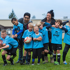 Team Photo by Garry Dosa - People Street & Candids ( tournament, ball, blue, boys, sports, children, game, team, people, soccer )