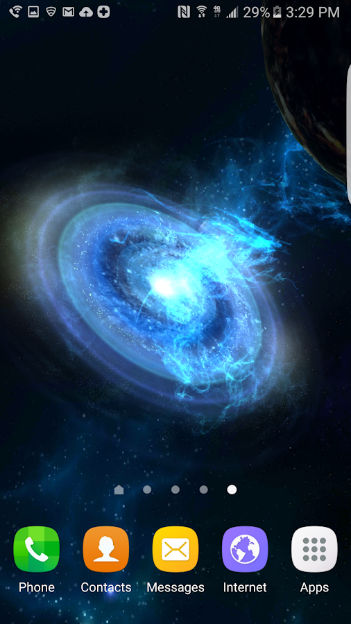 3D Galaxies Exploration LWP Screenshot 2