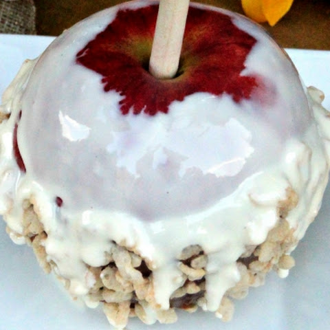 Rice Krispie Caramel Apples