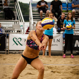 Beach volley by Simo Järvinen - Sports & Fitness Other Sports ( playing, ball, female, woman, outdoor, action, sports, game )