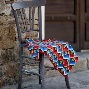 Art chair by Sergey Sokolov - Artistic Objects Furniture ( plovdiv, chair, old, blanket, cover, art, handmade, town, cityscape, landscape, city )